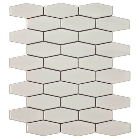 MTO0248 Classic Hexagon Beige Glazed Ceramic Mosaic Tile - Mosaic Tile Outlet