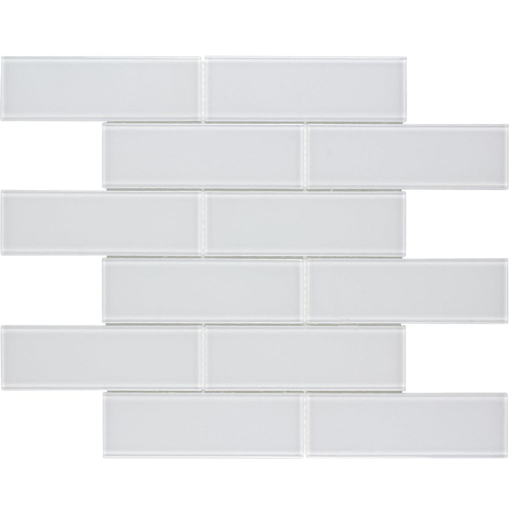 Mto0313 Modern 2x6 Subway White Glossy Glass Mosaic Tile