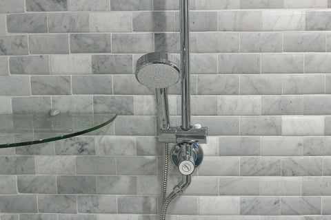 Mto0323 2x8 Pillowed Subway White Polished Carrara Marble