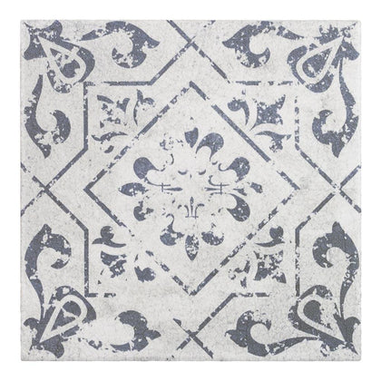 MTO0343 Modern 6X6 Square Grey White Matte Distressed Porcelain Mosaic Tile - Mosaic Tile Outlet