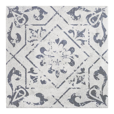 MTO0343 Modern 6X6 Square Grey White Matte Distressed Porcelain Mosaic Tile
