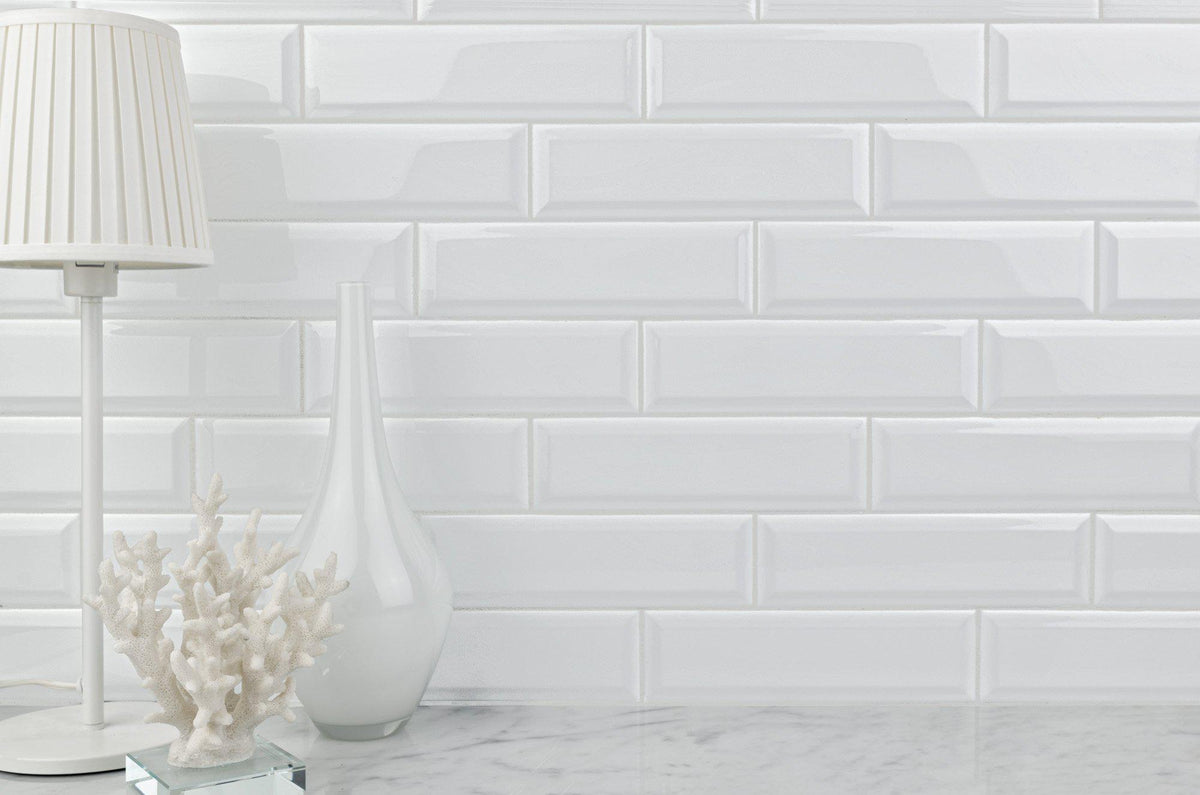 Modern White Glazed Ceramic 3x10 Subway Tile Mto0345