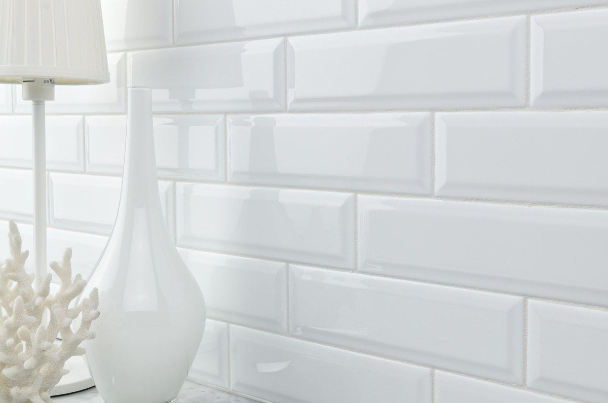 Mto0345 Modern 3x10 Subway White Glazed Ceramic Tile