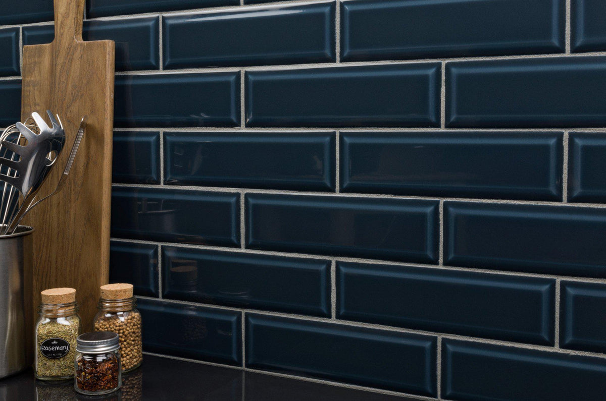 Mto0349 Modern 3x10 Subway Marine Blue Glazed Ceramic Tile
