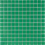 MTO0368 Modern 1X1 Stacked Squares Neon Green Glossy Glass Mosaic Tile - Mosaic Tile Outlet