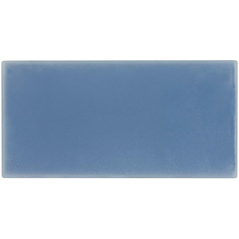 MTO0417 Modern Large Brick Subway Blue Matte Glass Tile
