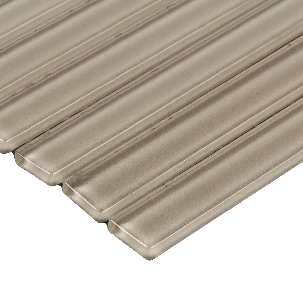 Mto0433 Peel And Stick Pencil Liner Molding Beige Glass Mosaic Tile