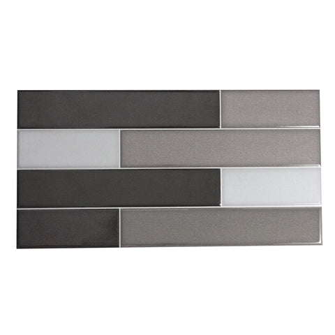 MTO0471 Modern Black Gray Rectangular Glazed Ceramic Mosaic Tile