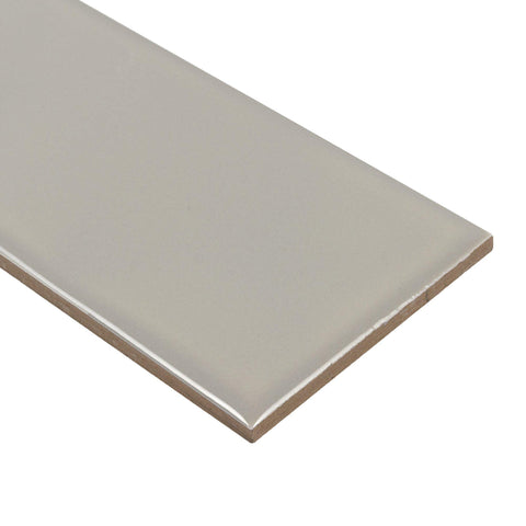 MTO0492 Classic 3X12 Subway Taupe Glossy Ceramic Tile - Mosaic Tile Outlet