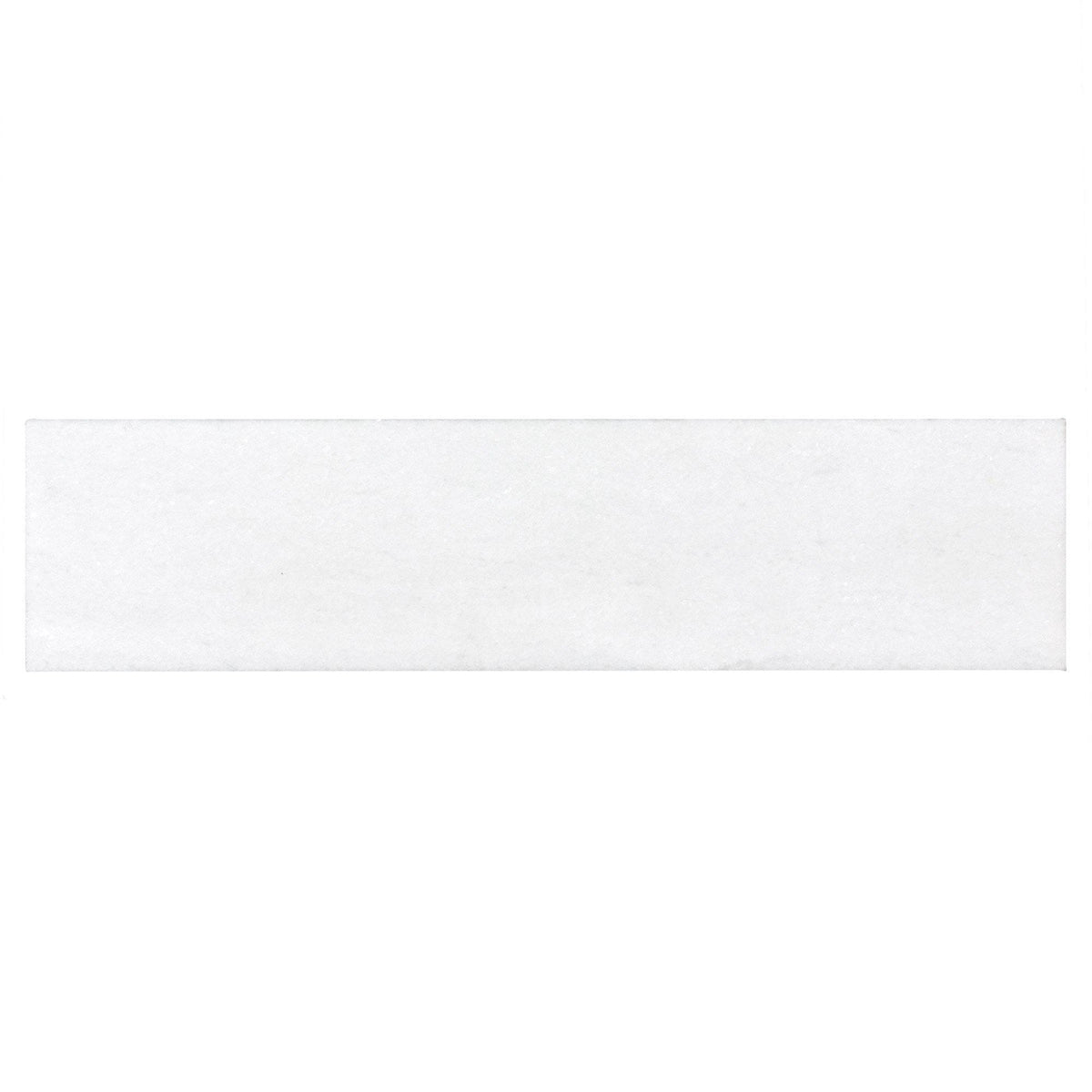 Mto0496 Rustic 3x12 Subway White Polished Stone Tile