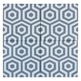 MTO0537 Modern 8X8 Hexagon Bay Blue Gray Matte Cement Tile - Mosaic Tile Outlet