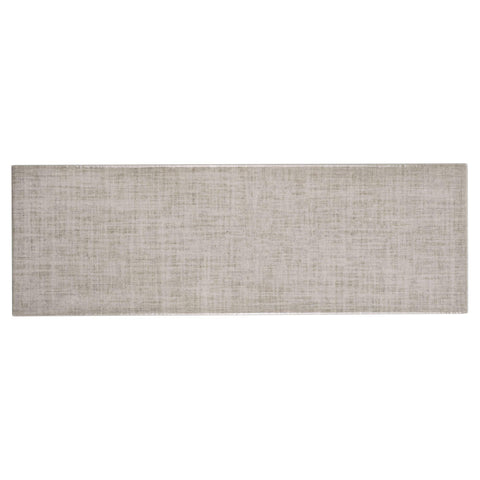 MTO0562 Modern 4X12 Beige Linen Look Subway Glossy Ceramic Tile - Mosaic Tile Outlet