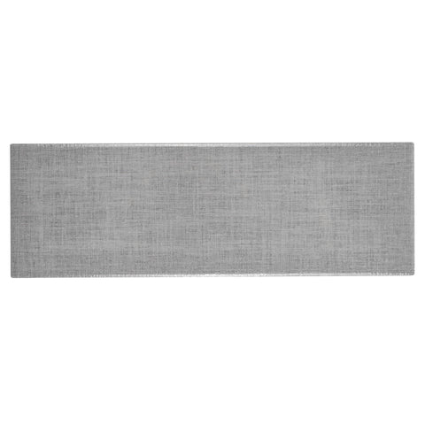 MTO0563 Modern 4X12 Gray Linen Look Subway Glossy Ceramic Tile - Mosaic Tile Outlet