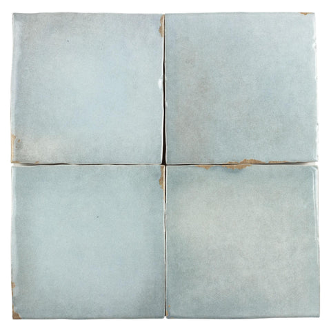 MTO0566 Modern 4X4 Gray Distressed Glossy Ceramic Tile - Mosaic Tile Outlet