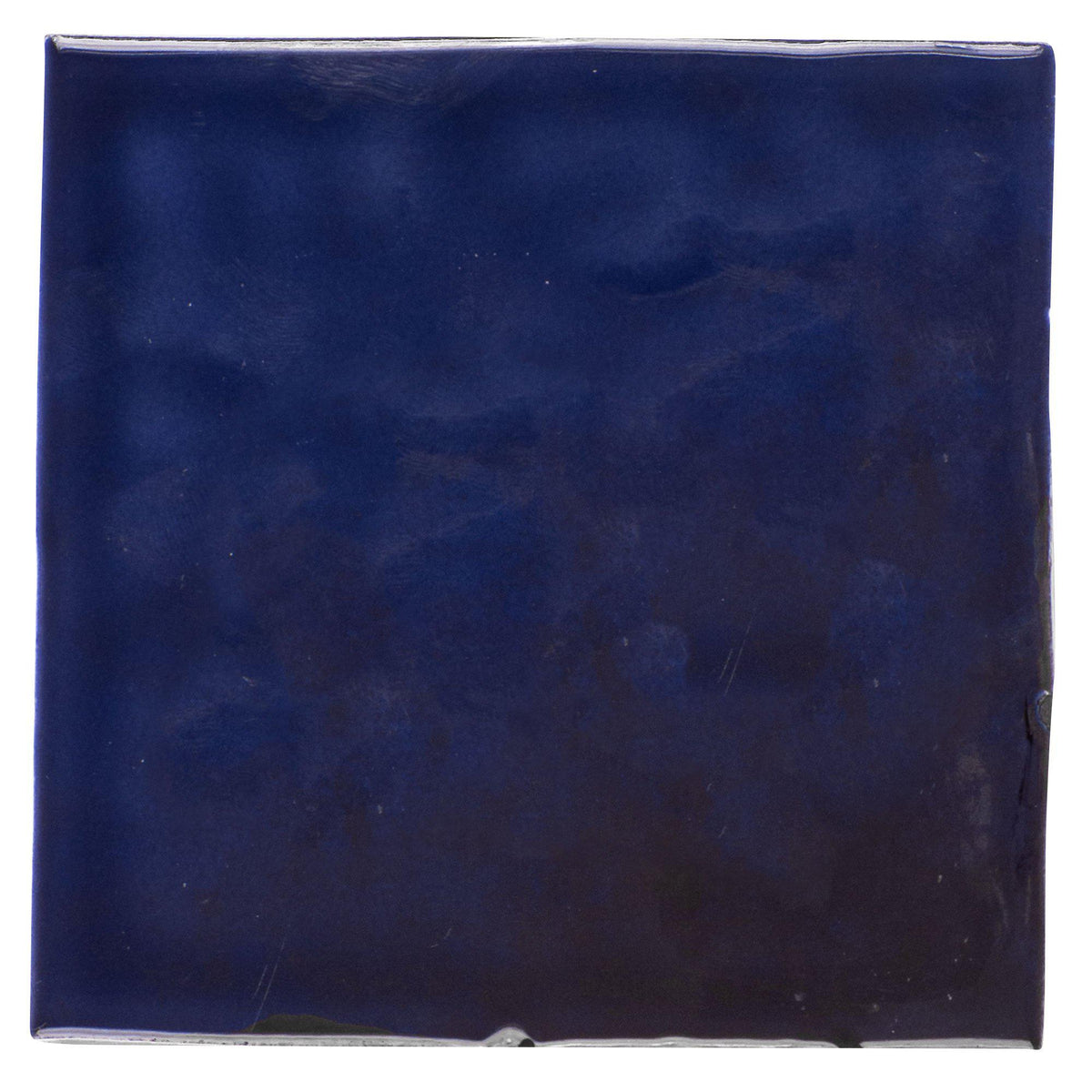Mto0568 Modern 4x4 Navy Blue Distressed Glossy Ceramic Tile