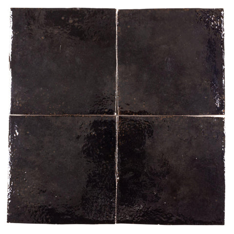 MTO0569 Modern 4X4 Brown Distressed Glossy Ceramic Tile - Mosaic Tile Outlet