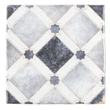 MTO0570 Modern 4X4 Blue White Multi-Pattern Distressed Glossy Ceramic Tile - Mosaic Tile Outlet