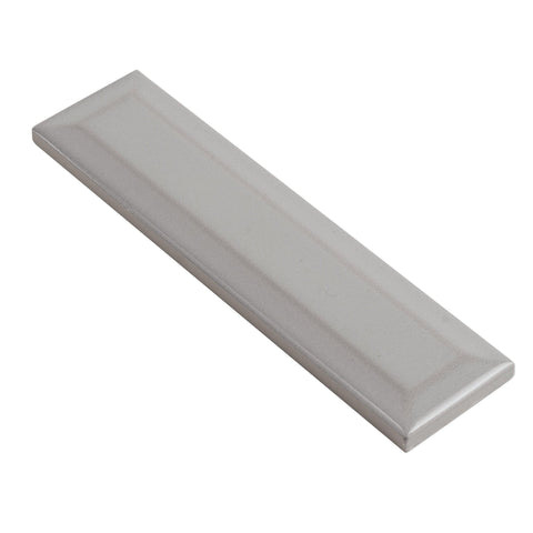 MTO0582 Modern 2X8 Beveled Subway Gray Distressed Glossy Ceramic Tile - Mosaic Tile Outlet