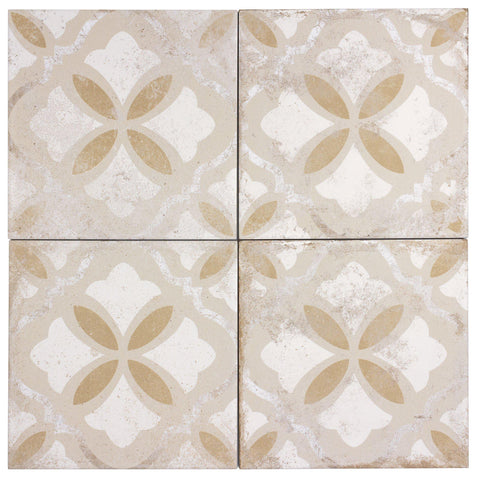 MTO0599 Classic 9X9 Brown Beige White Matte Distressed Porcelain Tile - Mosaic Tile Outlet