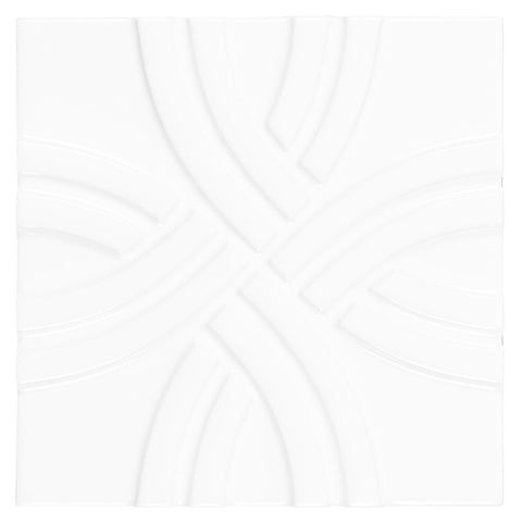 MTO0620 Classic 6X6 Cross Pattern Glossy White Ceramic Tile