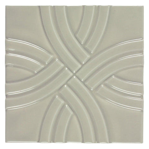 MTO0626 Classic 6X6 Cross Pattern Glossy Beige Ceramic Tile