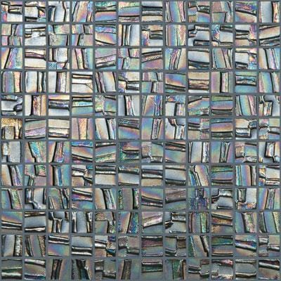 MTOD0003 Modern 1X1 Squares Multi Color Iridescent Metallic Look Glass Mosaic Tile