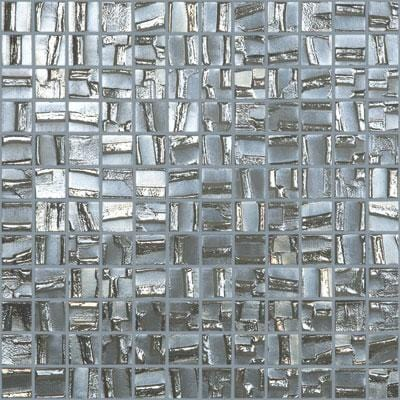 MTOD0002 Modern 1X1 Squares Silver Metallic Look Glass Mosaic Tile - Mosaic Tile Outlet
