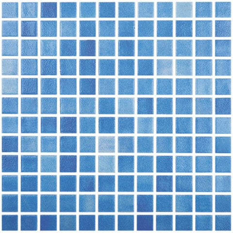 MTOD0030 Classic 1X1 Stacked Squares Light Blue Glossy Glass Mosaic Tile - Mosaic Tile Outlet
