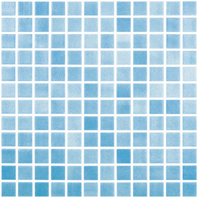 1x1 Stacked Square Mosaic Turquoise Blue Glass Tile Mtod0032
