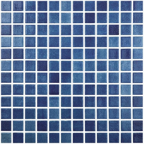1x1 Stacked Squares Gloss Blue Glass Mosaic Tile Mtod0034