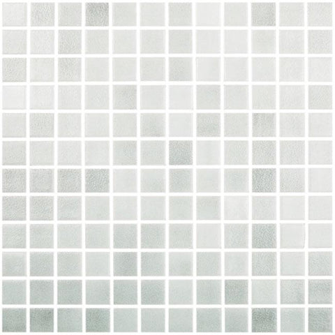 MTOD0037 Classic 1X1 Stacked Squares Light Gray Glossy Glass Mosaic Tile - Mosaic Tile Outlet