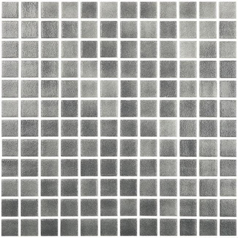MTOD0038 Classic 1X1 Stacked Squares Gray Glossy Glass Mosaic Tile - Mosaic Tile Outlet