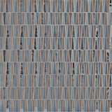 MTOT0001 Modern Trapezoid Gold Green Gray Metallic Handcut Glass Mosaic Tile