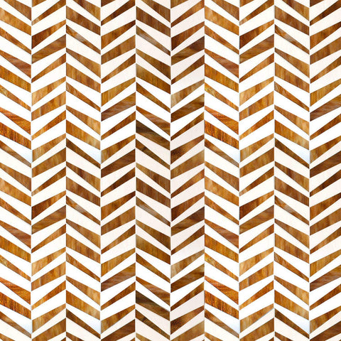 MTOT0008 Modern Staggered Herringbone White Yellow Orange Handcut Glass Mosaic Tile - Mosaic Tile Outlet