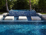 Pool Modern French Pattern Blue Glossy Glass Mosaic Tile
