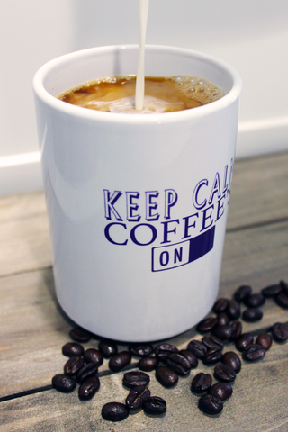 World Cuppa Keep Calm Coffee's On Mug and Creamer