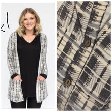 Load image into Gallery viewer, Plaid Essential Cardigan