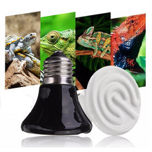 Load image into Gallery viewer, Pet Heating Light Bulb Infrared Ceramic Emitter Heat Lamp 25W/50W/75W/100W 60mm White Black For Reptile Pet Brooder 110V/220V