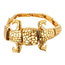 Load image into Gallery viewer, U7 Gold Color Big lizard Bracelet Stainless Steel Men Jewelry Gift Reptile Animal Rock Punk Bracelets H1030