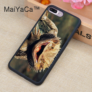 MaiYaCa bearded dragon Animal Case For iPhone 8 Plus Coque TPU Phone Back Cover For iPhone 8Plus Bags Skin Cover