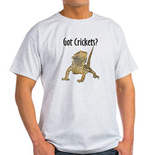 Load image into Gallery viewer, Bearded Dragon Got Crickets White T-Shirt - 100% Cotton T-Shirt