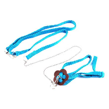 Load image into Gallery viewer, Adjustable Reptile Lizard Harness Leash Multicolor Light Soft Rope