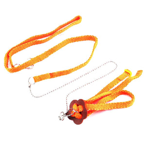 Adjustable Reptile Lizard Harness Leash Multicolor Light Soft Rope