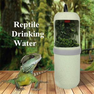 Automatic Water Drinking Reptile Lizard Chameleon Dispenser Fountain Terrarium