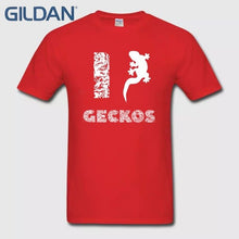 Load image into Gallery viewer, I Love Geckos Salamander Reptile Animal Lover Gift Design Men's Black Tee Shirts Shirt Make Own T Shirt