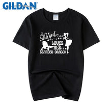 Load image into Gallery viewer, 2018 Summer Style Black T Shirt Loves Her Bearded Dragon No Buckle Tee Shirts Mens Cotton Simple Crazy Clothes
