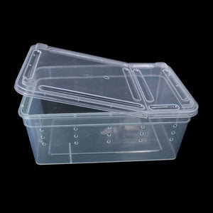 Transparent Plastic Box Insect Reptile Transport Breeding Live Food Feeding Box Oct12 Drop Ship