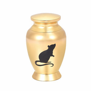 DSC-1240 73mm Height Stainless Steel Bearded Dragon Funeral Ashes Keepsake Urns,Animal Symbol Mini Cremation Urns(Rose)