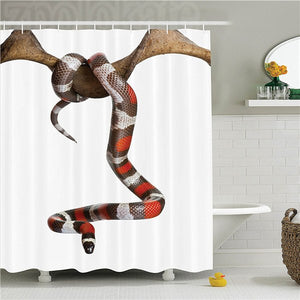 Reptile Wild Milk Snake Enjoying Life Creepy Creature Stylish Nature Studio Photo Decorative  Polyester Bathroom Shower Curtain
