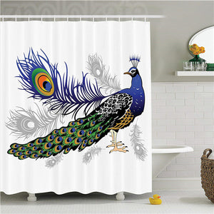 Reptile Black and White Reptile Skeleton Illustration Moving on the Ground Wild Exotic Snake Polyester Bathroom Shower Curtain